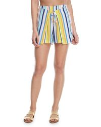 Nanette Lepore - Amalfi Coast Striped Cotton Coverup Shorts - Lyst