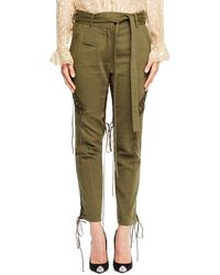 Saint Laurent - Tie-waist Military Pants - Lyst