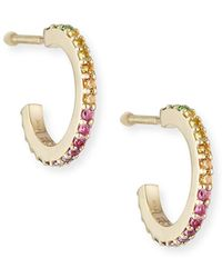 Lana Jewelry - Girls' Rainbow Sapphire Huggie Hoop Earrings - Lyst