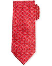 Ferragamo - Fringue Floral Pattern Silk Tie - Lyst