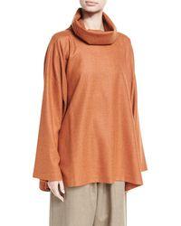 Eskandar - A-line Cowl-neck Monk's Top - Lyst