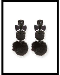 Ranjana Khan - Mink Puff Earrings - Lyst