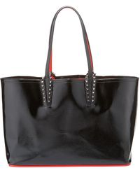 Christian Louboutin - Cabata Small Black Patent Leather Tote Bag - Lyst