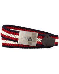 Ermenegildo Zegna - Xxx Engraved-buckle Woven Belt - Lyst