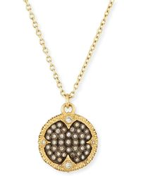 Armenta - Old World Pavé Diamond Disc Pendant Necklace - Lyst