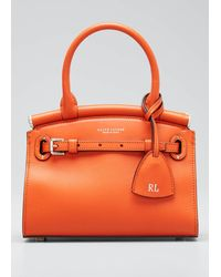 Ralph Lauren Smooth Mini Rl 50 Satchel Bag - Orange