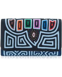 Mola Sasa - Diag Morro Embroidered Clutch Bag - Lyst