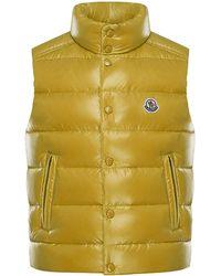 c1484ea33290 Lyst - Moncler Blue Shiny Tib Down Vest in Blue for Men