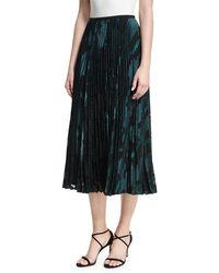 Lafayette 148 New York - Florianna Pleated Midi Skirt - Lyst