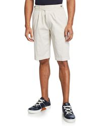 Ermenegildo Zegna - Men's Gurkha-waist Cotton Shorts - Lyst
