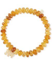 Sydney Evan - Tourmaline Bead Bracelet W/ Elephant Charm - Lyst