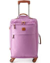 """Bric's X-bag 21"""" Carry-on Spinner Luggage - Purple"""