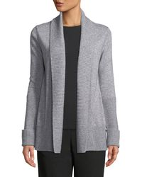 Vince - Wide-collar Open-front Wool-cashmere Cardigan - Lyst