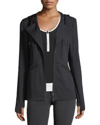 BLANC NOIR - Vibe Zip-front Hooded Performance Jacket - Lyst
