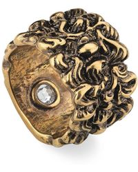 Gucci - Men's Large Lion Head Band Ring - Lyst