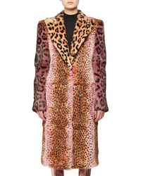 Tom Ford - Strong-shoulder Jaguar & Cheetah Patch Rabbit-fur Coat - Lyst