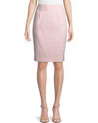 Nanette Lepore - Posh Gingham Pencil Skirt - Lyst