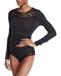 Hanro - Enya Lace-trim Full Bikini Briefs - Lyst