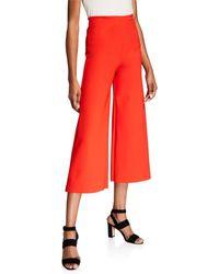 La Petite Robe Di Chiara Boni Skylette Cropped Wide-leg Pants - Red