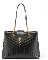 ff3ffc7fefc4 Saint Laurent - Loulou Monogram Ysl Large Quilted Shoulder Tote Bag - Lt.  Bronze Hardware