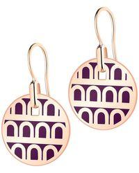 Davidor L'arc De 18k Rose Gold Drop Earrings - Petite Model - Multicolor