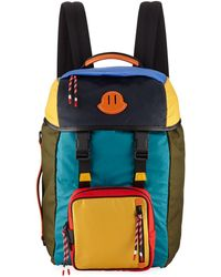 Moncler - Men's Chute Colorblock Leather-trim Canvas Backpack - Lyst