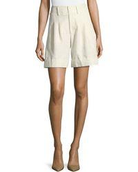 Co. - High-waist Cuffed Shorts - Lyst