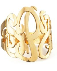 Jennifer Zeuner - Three-initial Monogram Ring - Lyst