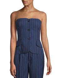 Ralph Lauren Collection - Blanche Pinstriped Bustier Top - Lyst