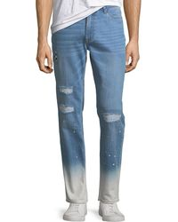 Ovadia And Sons - Slim-leg Checker Jeans - Lyst