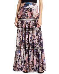 Fuzzi Long Camouflage-print Convertible Skirt/strapless Dress - Brown