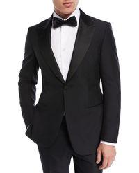 Ermenegildo Zegna - Textured-lapel Wool-silk Tuxedo - Lyst