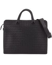 Bottega Veneta - Intrecciato Calf Leather Briefcase - Lyst