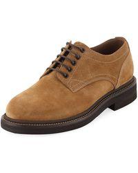 Brunello Cucinelli - Men's Suede Lace-up Shoes - Lyst