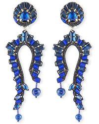Ranjana Khan - Lapis Clip-on Statement Earrings - Lyst