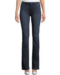 PAIGE Manhattan High-rise Boot-cut Jeans - Blue