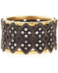 Armenta - Double Crivelli Wide Band Ring - Lyst