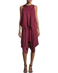 Elizabeth and James - Greer Sleeveless Satin Handkerchief Dress - Lyst