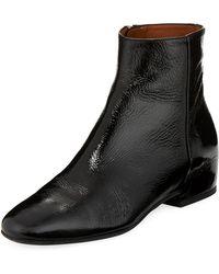 Aquatalia - Ulyssa Leather Low-heel Boot - Lyst