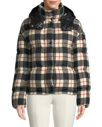 94122df12 Caille Plaid Puffer Coat W/ Removable Hood - Black