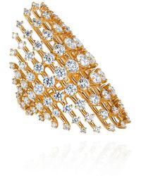 Fernando Jorge Disco 18k Diamond Ring - Metallic