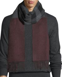 Burberry | Reversible Mega Check Cashmere Scarf | Lyst