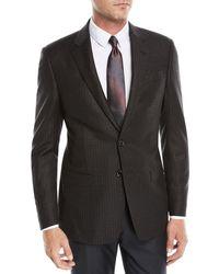 Giorgio Armani - Men's Wool Melange Two-button Sport Coat Jacket - Lyst