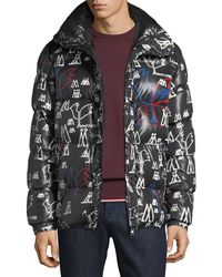 Moncler - Marennes Printed Down Jacket - Lyst