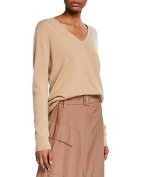 Vince - Weekend V-neck Cashmere Pullover Sweater - Lyst