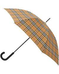Burberry Men's Vintage Check Folding Umbrella - Natural