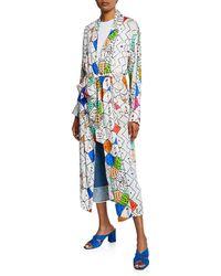 Chufy Soufiane Long Self-tie Kimono - Multicolor