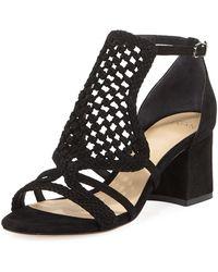 Alexandre Birman - Carmella Crocheted Block-heel Sandal - Lyst