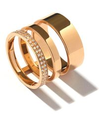 Repossi - Technical Berbere Diamond Three-row Band Ring In 18k Gold - Lyst