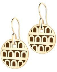 Davidor L'arc De 18k Gold Drop Earrings - Petite Model - Metallic